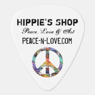 Hippie's Shop Promotional Value Peace Sign Guitar Pick