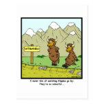 Hippies: Yak cartoon Post Card