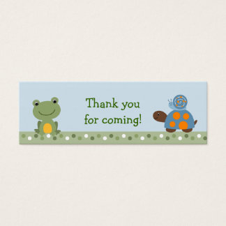 Hippity Frog Turtle Baby Shower Favor Gift Tags Mini Business Card
