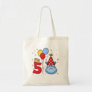 Hippo 5th Birthday Bags