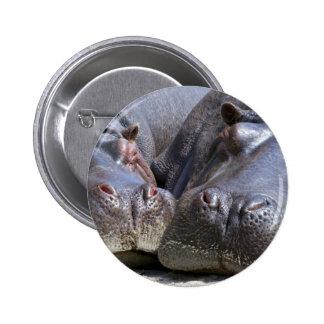 Hippo 6 Cm Round Badge