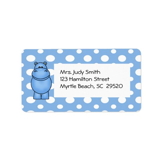 Hippo Address Label