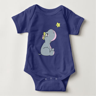 Hippo and Star! Baby Bodysuit