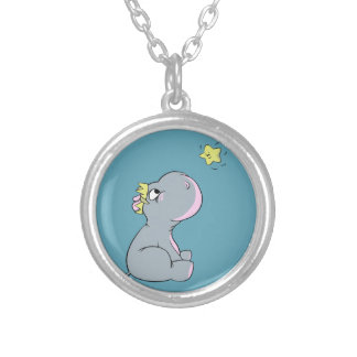 Hippo and Star! Silver Plated Necklace