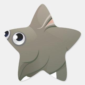 Hippo Animal Cartoon Character Star Sticker