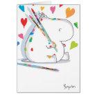 HIPPO ARTIST Valentines by Boynton Card
