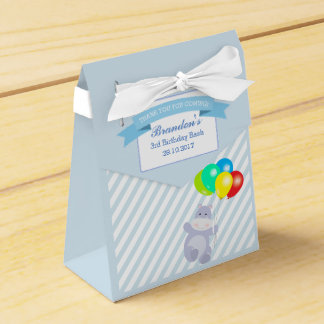 Hippo Balloons Adventure Birthday Party Favour Favour Box