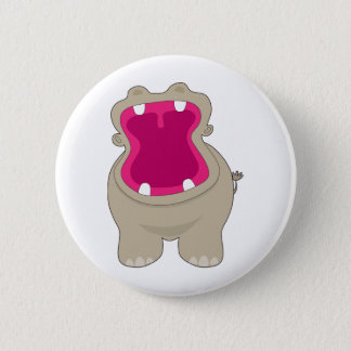 Hippo Big Mouth 6 Cm Round Badge
