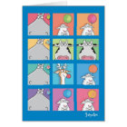 HIPPO BIRDIE FACES CARD