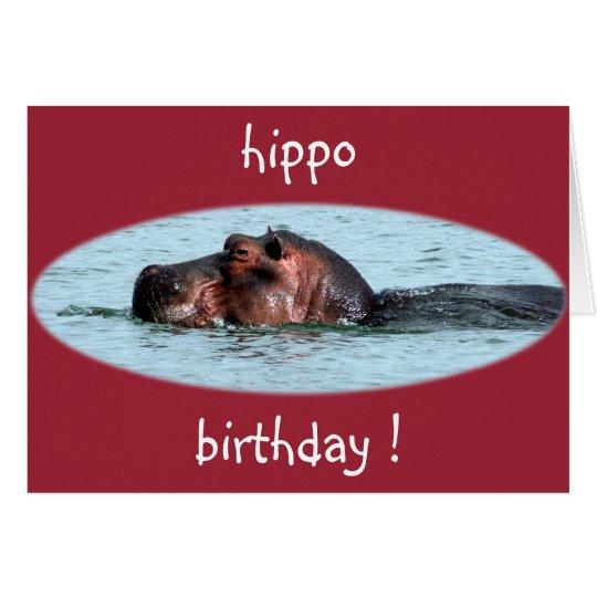 hippo birthday red card