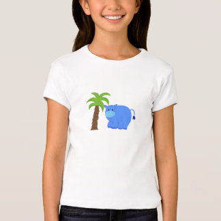 Hippo By A Palm Tree T-shirts