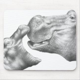 Hippo & Calf Mousepad