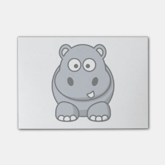Hippo Cartoon Art Post-it Notes