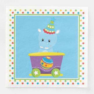 Hippo | Circus Train Paper Napkin