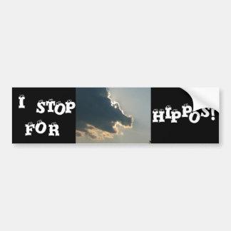 Hippo Cloud Bumper Sticker