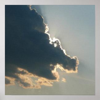 Hippo Cloud Canvas Print