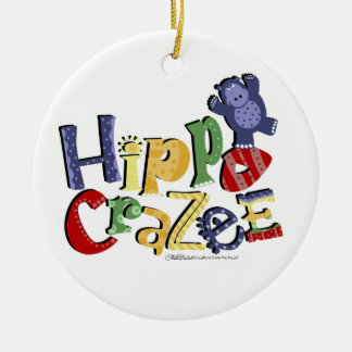 Hippo Crazee- for the really crazy Hippo Lover Christmas Ornament