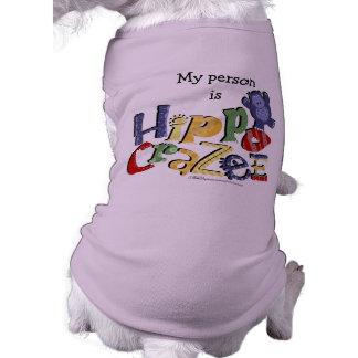 Hippo Crazee (on light colors) Sleeveless Dog Shirt