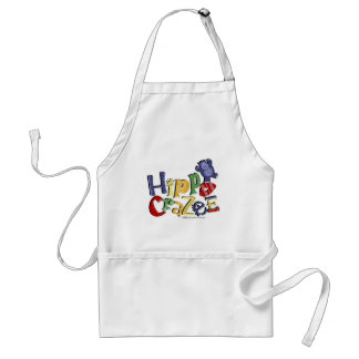Hippo Crazee (on light colors) Standard Apron