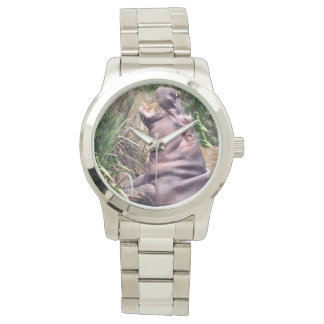 Hippo_Determination_Unisex_Large_Silver_Watch Wrist Watch