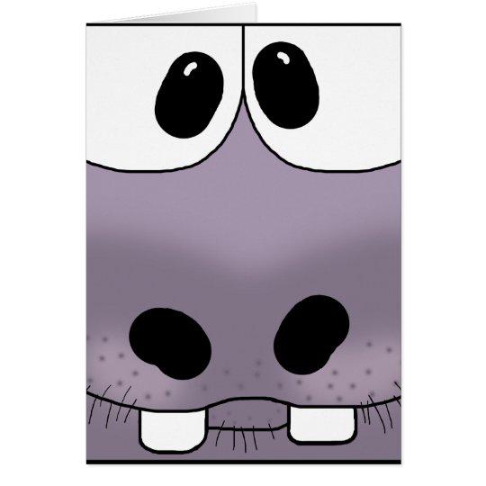 Hippo Face Card