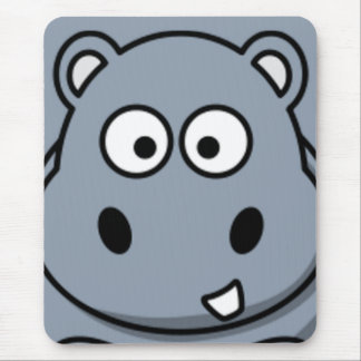 Hippo Face Mouse Mat