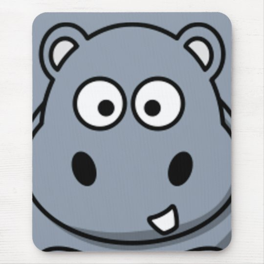 Hippo Face Mouse Mat