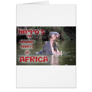 hippo ferry greeting cards