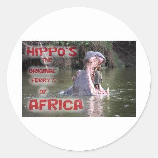 hippo ferry sticker