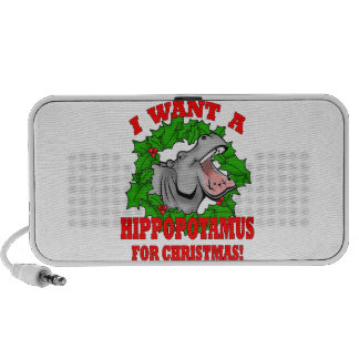 Hippo for Christmas Mp3 Speakers