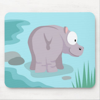 Hippo from my world animals serie mouse pad