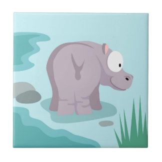 Hippo from my world animals serie tile
