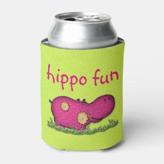 hippo fun can cooler