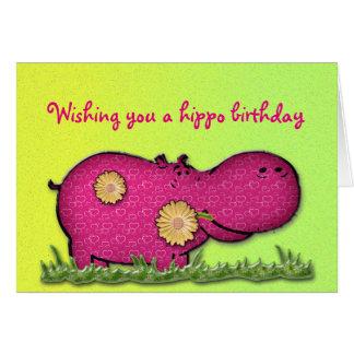 hippo fun card