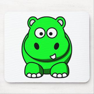 Hippo Green Mouse Mat