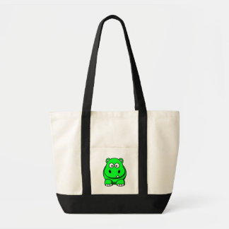 Hippo Green Tote Bag