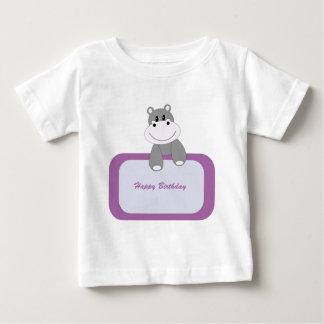 Hippo Happy Birthday Baby T-Shirt