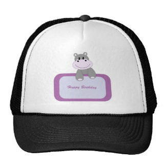 Hippo Happy Birthday Cap