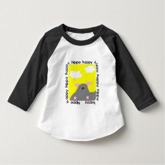 Hippo Happy Toddler Raglan T-shirt