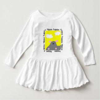 Hippo Happy Toddler Ruffle Dress Tshirts
