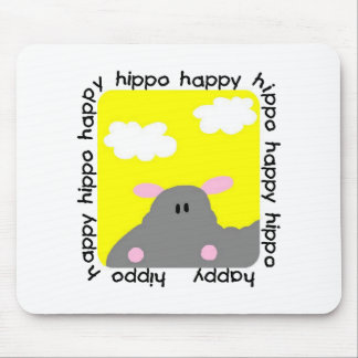 Hippo Happy Tshirts and Gifts Mouse Pad