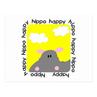Hippo Happy Tshirts and Gifts Post Card