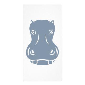 Hippo head picture card