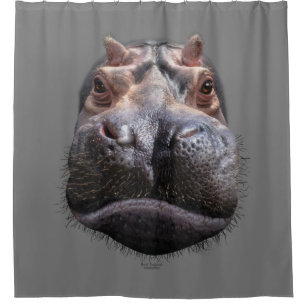 Hippo Head Shower Curtain