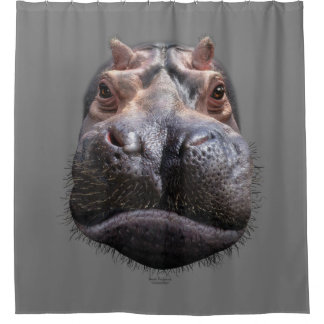 Hippo Head Shower Curtain