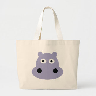 hippo head tote bags