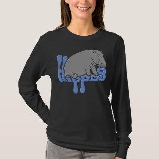 Hippo Heavy - Blue T-Shirt