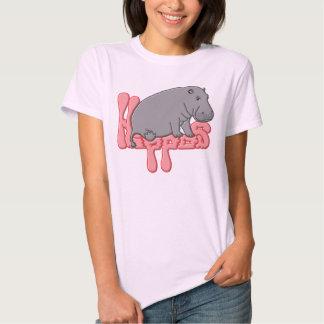 Hippo Heavy - Pink Tee Shirts