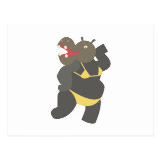Hippo In Bikini Postcard