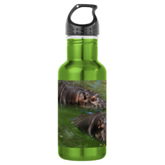 Hippo_In_The_Pond_Reusable_Apple_Water_Bottle. 532 Ml Water Bottle